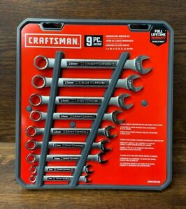 New Craftsman Combination Wrench Set New Metric 9 Piece Cmmt82328