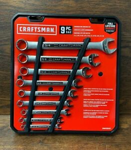New Craftsman Combination Wrench Set New Standard Sae 9 Piece Cmmt82327