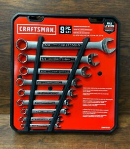 New Craftsman Combination Sae Wrench Set Standard Sae 9 Piece Cmmt82327