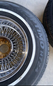 Pair Of 15x7 Bolt On Wire Wheels With New Radials