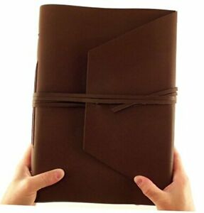 Large Genuine Leather Expedition Journal sketchbook With Gift Box 380 Pages