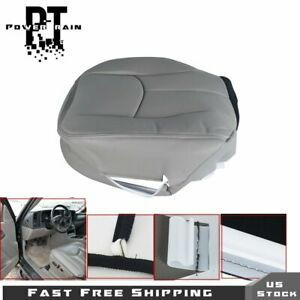 Driver Bottom Leather Gray Seat Cover For 2003 06 Chevy Tahoe Suburban Gmc Yukon