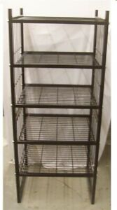Store Display Fixtures New 24 X 24 X 5 Tall Black Wire Shelving Display Unit