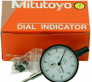 New Mitutoyo 2046s Dial Indicator 0 10mm X 0 01mm Grad