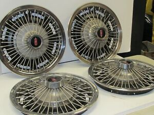 Vintage Oldsmobile Hubcaps Wire Wheel Covers Set Of 4
