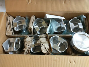 455 Oldsmobile Forged Pistons L2323f 030 Over Coated Skirts