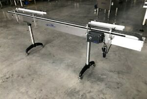 Accutek 4 5 X 10 Long Stainless Bottle Conveyor With Speed Controls Conveying