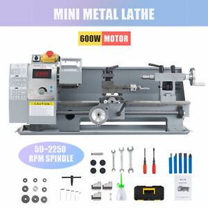 Benchtop Mini Metal Lathe Cutter For Metal And Woodworking 8 x14 600w 2500rpm