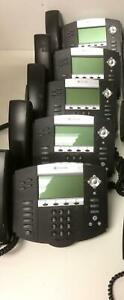Lot Of 5 Polycom Soundpoint Ip 550 Phones 2201 12550 001 With Stands Handsets