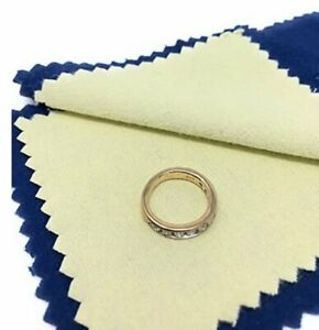Jewelry Cleaning Polishing Cloth Instant Shine amp; Protects Gold Silver Brass $2.89