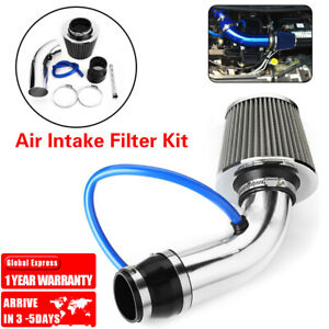 3 Car Cold Air Intake Filter Induction Kit Pipe Power Flow Hose System Universal