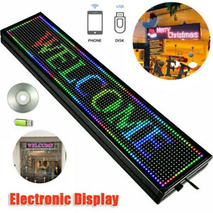 40 x8 7 Colors Outdoor Led Sign Programmable Scrolling Message Board Durable Us