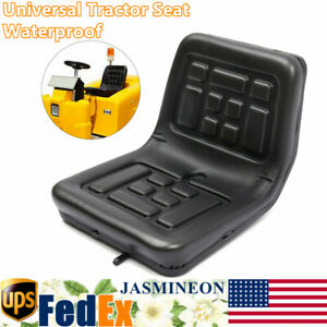 Tractor Seat Universal Lawn Mower Tractor Seat Back Black Pu Leather Waterproof