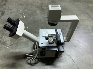 Nikon Tms Inverted Phase Contrast Microscope Adjustable Light W 2 Objectives
