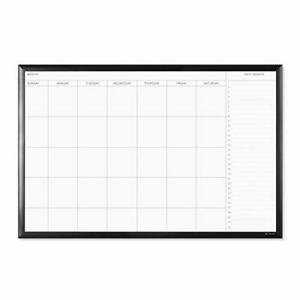 Magnetic Dry Erase Calendar Board 23 X 35 Inches Black 35 X 23 Inches