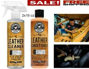 Chemical Guys Kit 2x16oz Leather Cleaner And Conditioner For Car Care Interior