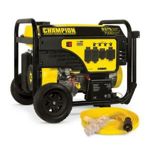Champion Power Equipment Portable Generator W Electric Start And Extension Cord