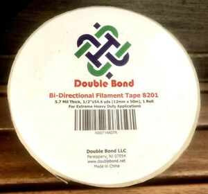 Strapping Tape 1 2 Extreme Heavy duty Double bond Filament Roll 0 5 inch 50 yds