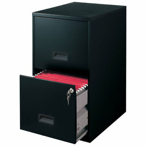 Filing Cabinet 2 drawer Steel File Cabinet With Lock Black