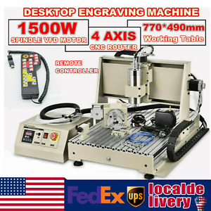 Usb 4axis 1500w Cnc 6040z Router Engraving Wood Drill milling Machine controller