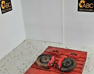 2006 2013 Corvette C6 Z06 Calipers Brakes Set Red Front Rear 6 Piston With Rotor