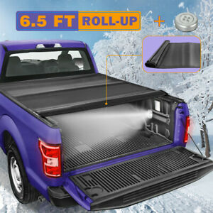 6 5ft Soft Roll up Tonneau Cover For 2009 2020 Ford F150 Lariat Truck Bed Pickup
