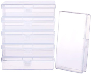 Plastic Box Clear Storage Case Collection Organizer Container 6 Pack $29.13