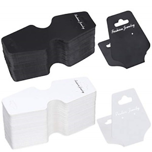400pcs Jewelry Display Cards With Hole Earrings Display Cards Black And White