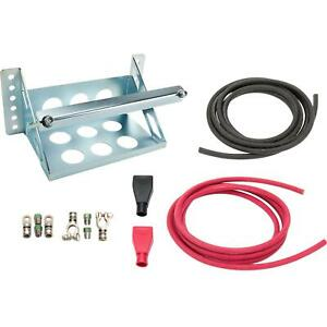 Car Battery Relocation Kit W Bolt on Remote Mount Box