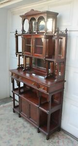Antique Hale And Kilburn Aesthetic Cherry Etagere Display Cabinet Circa 1880