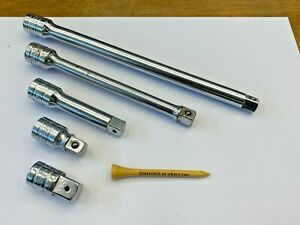 Snap On Tools Usa Ol 5 Piece 3 8 Drive Chrome Socket Extension Adapter Lot Set