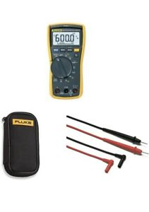 Fluke 117 Electricians True Rms Multimeter With Compact Soft Case Leads Manual