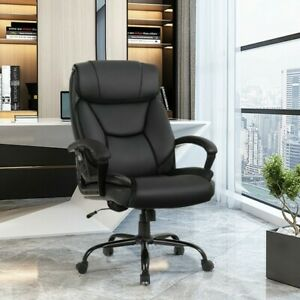 Big Tall 500lbs Massage Office Chair Executive Pu Leather Computer Desk Chair