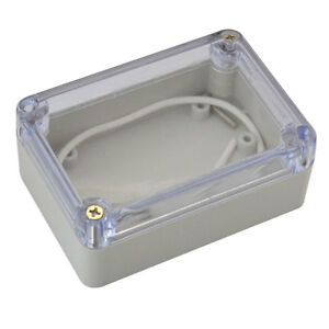 100 68 50mm Waterproof Cover Plastic Electronic Project Box Enclosure Case Clear