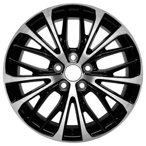 75221 New Compatible Aluminum Wheel 18x8 Machined W Black Fits 2018 Toyota Camry