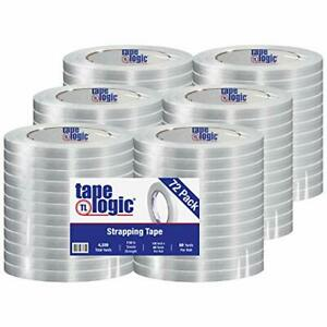 Tape Logic 1 2 Inch X 60 Yards Reinforced Glass Filament Strapping Tape Clear