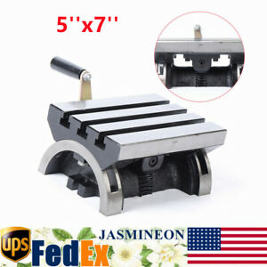 5x7 Adjustable Angle Plate Tilting Work Table W Handle For Cnc Milling Machine