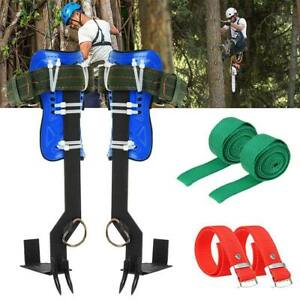 2 Gears Tree pole Climbing Spike Set Both Sides Safety Belt Lanyard Rope Tool