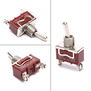 Momentary Toggle Switch on Off Spring Return 2 Pin Latching Switchy t1