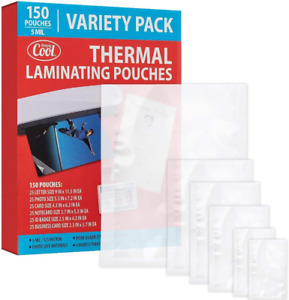 5mm Thermal Laminating Pouches 150 Count Letter Photo Card Notecard Id Badge