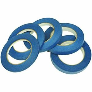 5 Pack Blue Painters Tape For Painting Trimming Edging 1 4 3 8 1 2 5 8 3 4 In