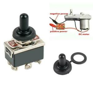 6 pin Mini Toggle Switch Dpdt 3 Position On off on Reverse Polarity With Cap Us