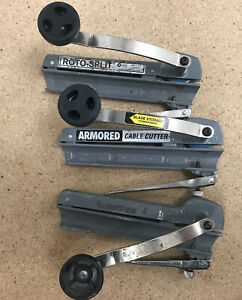 Armored Cable Cutter Tools 3 Count Usa Made