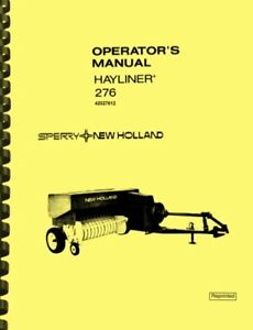 New Holland 276 Hayliner Baler Owners Operator s Manual