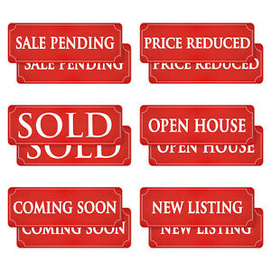 12 Magnetic Real Estate Signs 6 Phrases 17 X 6 In