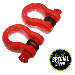 2 Mega Upgrade D Ring Shackles 44 092lbs Break Strength With 7 8 Screw Pin