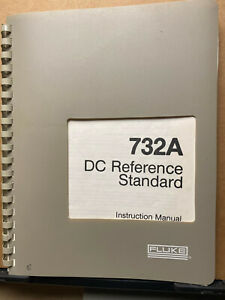 Fluke Instruction Manual For The 732a Dc Reference Voltage Standard Operation