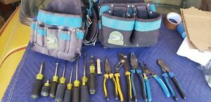 Lot Of 14 Used Klein Tools With Gator Professional Tool Belt W Shoulder Strap