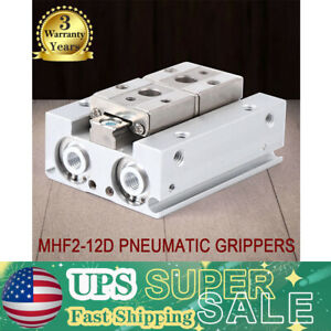 Mhf2 12d Finger Pneumatic Gripper Cylinder 12mm Double Acting Stroke Us Stock