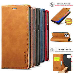 For iPhone 12 11 Pro Max XS X XR 7 8 6s Leather Wallet Case Magnetic Flip Cover $3.30